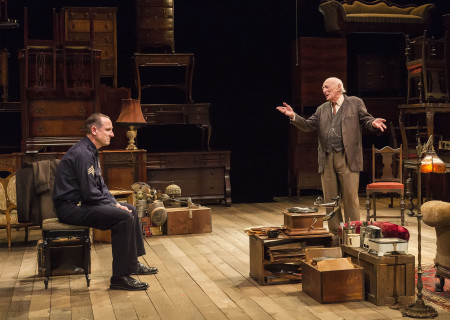 (L–R) Sam Robards and Alan Mandell in Arthur Miller's classic drama 'The Price' at the Mark Taper Forum.