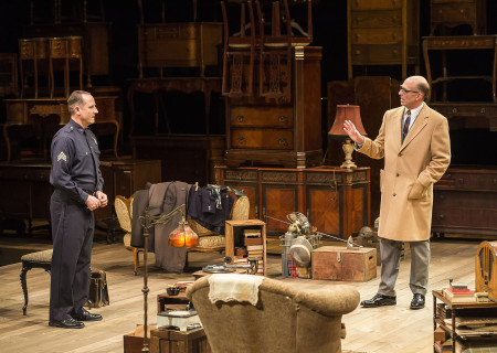 Sam Robards and John Bedford Lloyd in Arthur Miller's classic drama 'The Price' at the Mark Taper Forum.