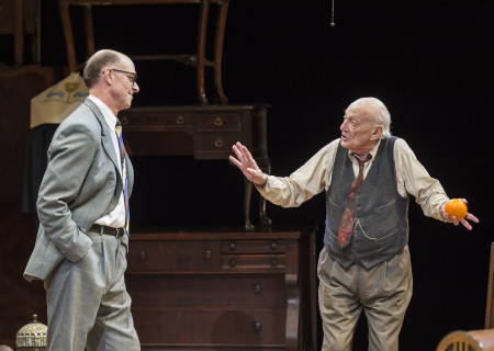 (L–R) John Bedford Lloyd and Alan Mandell  in Arthur Miller's classic drama 'The Price' at the Mark Taper Forum.
