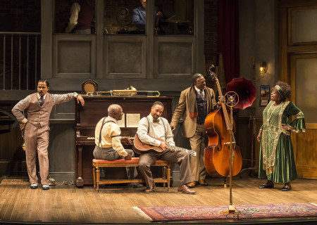 L-R: Jason Dirden, Glynn Turman, Damon Gupton, Keith David and Lillias White in August Wilson's 'Ma Rainey's Black Bottom.'
