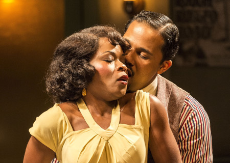 Nija Okoro and Jason Dirden in August Wilson's 'Ma Rainey's Black Bottom.'