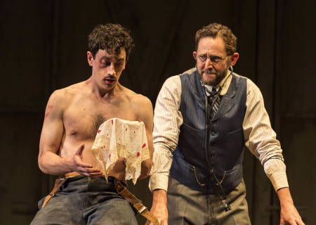 "L-R: Stephen Stocking and Todd Weeks in the world premiere of Rajiv Joseph's ""Archduke."" Directed by Giovanna Sardelli, ""Archduke"" plays through June 4, 2017, at the Center Theatre Group/Mark Taper Forum. For tickets and information, please visit CenterTheatreGroup.org or call (213) 628-2772. Media Contact: CTGMedia@ctgla.org / (213) 972-7376. Photo by Craig Schwartz."
