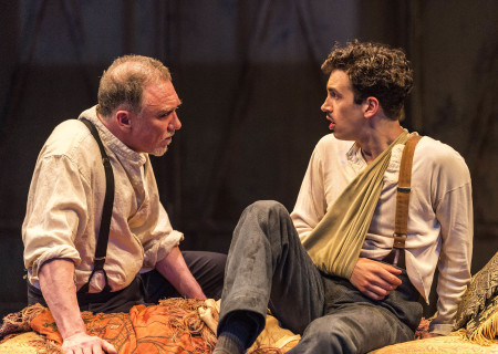 "L-R: Patrick Page and Stephen Stocking in the world premiere of Rajiv Joseph's ""Archduke."" Directed by Giovanna Sardelli, ""Archduke"" plays through June 4, 2017, at the Center Theatre Group/Mark Taper Forum. For tickets and information, please visit CenterTheatreGroup.org or call (213) 628-2772. Media Contact: CTGMedia@ctgla.org / (213) 972-7376. Photo by Craig Schwartz."