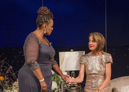 "L-R: Kecia Lewis and Wendie Malick in the world premiere of ""Big Night"" at Center Theatre Group's Kirk Douglas Theatre. Written by Paul Rudnick and directed by Walter Bobbie, ""Big Night"" continues through October 8, 2017. For tickets and information, please visit CenterTheatreGroup.org or call (213) 628-2772. Media Contact: CTGMedia@CTGLA.org / (213) 972-7376. Photo by Craig Schwartz."