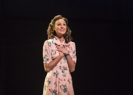 "Maddie Shea Baldwin in Steve Martin and Edie Brickell's ""Bright Star."" Directed by Walter Bobbie, ""Bright Star"" will be presented by Center Theatre Group at the Ahmanson Theatre through November 19, 2017. For tickets and information, please visit CenterTheatreGroup.org or call (213) 972-4400. Press Contact: CTGMedia@CTGLA.org / (213) 972-7376. Photo by Craig Schwartz."