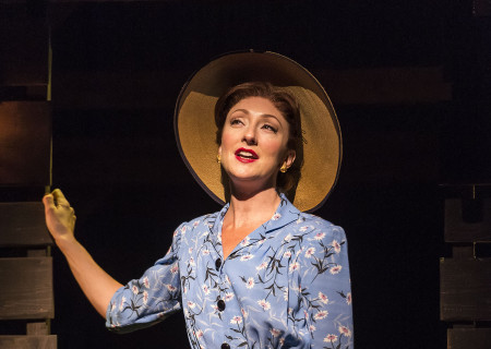 "Carmen Cusack in Steve Martin and Edie Brickell's ""Bright Star."" Directed by Walter Bobbie, ""Bright Star"" will be presented by Center Theatre Group at the Ahmanson Theatre through November 19, 2017. For tickets and information, please visit CenterTheatreGroup.org or call (213) 972-4400. Press Contact: CTGMedia@CTGLA.org / (213) 972-7376. Photo by Craig Schwartz."