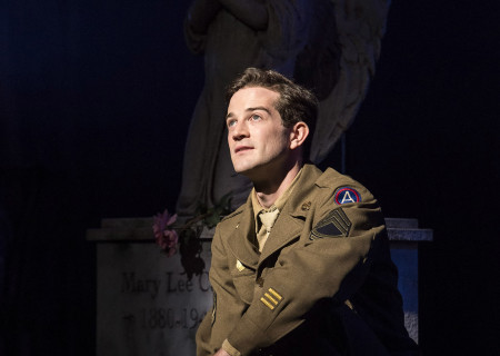 "A.J. Shively in Steve Martin and Edie Brickell's ""Bright Star."" Directed by Walter Bobbie, ""Bright Star"" will be presented by Center Theatre Group at the Ahmanson Theatre through November 19, 2017. For tickets and information, please visit CenterTheatreGroup.org or call (213) 972-4400. Press Contact: CTGMedia@CTGLA.org / (213) 972-7376. Photo by Craig Schwartz."