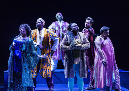 "L-R: Carla Renata, Marcus Henderson, Dayo Ade, Ngozi Anyanwu, Mark Jude Sullivan and Omozé Idehenre in the world premiere of ""Good Grief."" Written by Ngozi Anyanwu and directed by Patricia McGregor, ""Good Grief"" plays at Center Theatre Group's Kirk Douglas Theatre through March 26, 2017. For tickets and information, please visit CenterTheatreGroup.org or call (213) 972-4400. Media Contact: CTGMedia@ctgla.org / (213) 972-7376. Photo by Craig Schwartz."