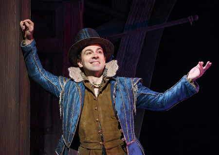 "Rob McClure in ""Something Rotten!"" which plays at the Ahmanson Theatre November 21 through December 31, 2017. For tickets and information, please visit CenterTheatreGroup.org or call (213) 972-4400. Press Contact: CTGMedia@CTGLA.org / (213) 972-7376. Photo by Joan Marcus."