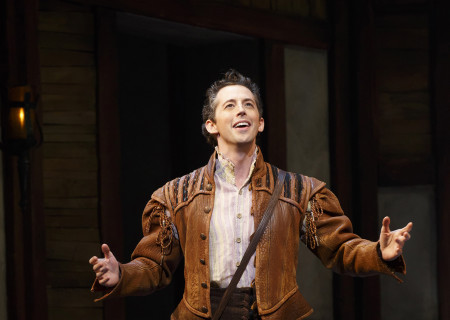 "Josh Grisetti in ""Something Rotten!"" which plays at the Ahmanson Theatre November 21 through December 31, 2017. For tickets and information, please visit CenterTheatreGroup.org or call (213) 972-4400. Press Contact: CTGMedia@CTGLA.org / (213) 972-7376. Photo by Joan Marcus."