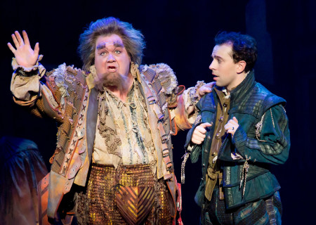 "L-R: Blake Hammond and Rob McClure in ""Something Rotten!"" which plays at the Ahmanson Theatre November 21 through December 31, 2017. For tickets and information, please visit CenterTheatreGroup.org or call (213) 972-4400. Press Contact: CTGMedia@CTGLA.org / (213) 972-7376. Photo by Jeremy Daniel."