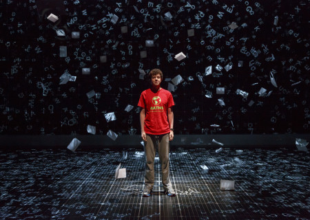 "Adam Langdon as Christopher Boone in the touring production of ""The Curious Incident of the Dog in the Night-Time,"" which will be presented by Center Theatre Group at the Ahmanson Theatre August 2 through September 10, 2017. For tickets and information, please visit CenterTheatreGroup.org or call (213) 972-4400. Media Contact: CTGMedia@CTGLA.org / (213) 972-7376. Photo by Joan Marcus"