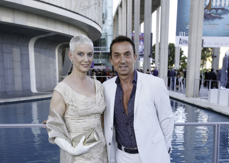 Patricia Ward Kelly and Bruno Tonioli arrive for Center Theatre Group's 50th Anniversary Celebration at the Ahmanson Theatre on Saturday, May 20, 2017, in Los Angeles, California.
