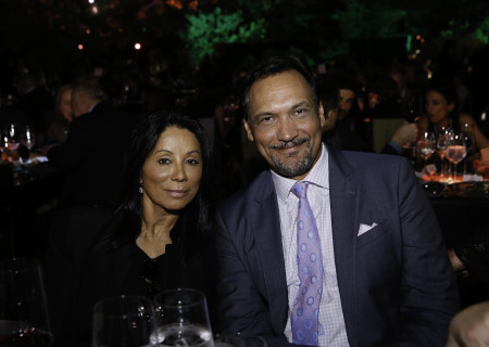 Actors Wanda De Jesus and Jimmy Smits at Center Theatre Group's 50th Anniversary Celebration in Grand Park on Saturday, May 20, 2017, in Los Angeles, California.