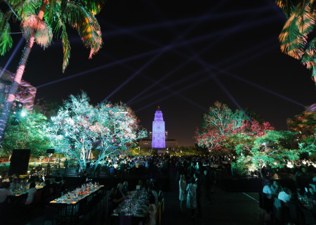 Party interior at Center Theatre Group's 50th Anniversary Celebration in Grand Park on Saturday, May 20, 2017, in Los Angeles, California.