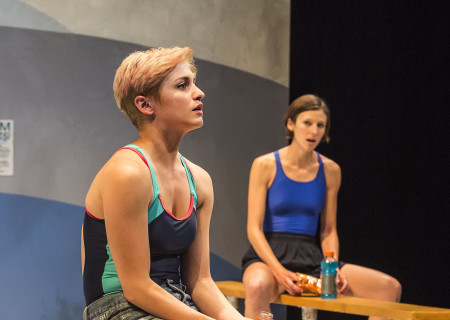 "L-R: Teagan Rose and Connor Kelly-Eiding in The Echo Theater Company production of ""Dry Land"" at the Kirk Douglas Theatre. Written by Ruby Rae Spiegel and directed by Alana Dietze, ""Dry Land"" is part of Center Theatre Group's Block Party and will play through May 21, 2017, at the Kirk Douglas Theatre. For tickets and information, please visit CenterTheatreGroup.org or call (213) 628-2772. Media Contact: CTGMedia@CTGLA.org / (213) 972-7376. Photo by Craig Schwartz."