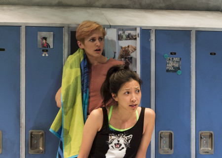 "L-R: Teagan Rose and Jenny Soo in The Echo Theater Company production of ""Dry Land"" at the Kirk Douglas Theatre. Written by Ruby Rae Spiegel and directed by Alana Dietze, ""Dry Land"" is part of Center Theatre Group's Block Party and will play through May 21, 2017, at the Kirk Douglas Theatre. For tickets and information, please visit CenterTheatreGroup.org or call (213) 628-2772. Media Contact: CTGMedia@CTGLA.org / (213) 972-7376. Photo by Craig Schwartz."
