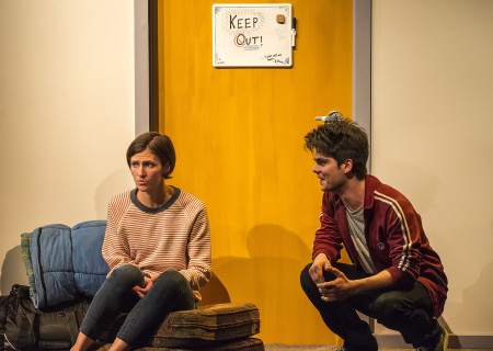"L-R: Connor Kelly-Eiding and Ben Horwitz in The Echo Theater Company production of ""Dry Land"" at the Kirk Douglas Theatre. Written by Ruby Rae Spiegel and directed by Alana Dietze, ""Dry Land"" is part of Center Theatre Group's Block Party and will play through May 21, 2017, at the Kirk Douglas Theatre. For tickets and information, please visit CenterTheatreGroup.org or call (213) 628-2772. Media Contact: CTGMedia@CTGLA.org / (213) 972-7376. Photo by Craig Schwartz."