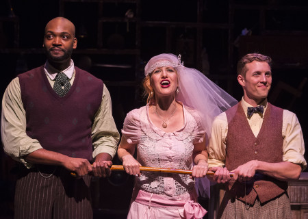 "L-R: Theo Perkins, Margaret Katch and Brandon Ruiter in the Coeurage Theatre production of ""Failure: A Love Story"" at the Kirk Douglas Theatre. Written by Philip Dawkins and directed by Michael Matthews, ""Failure"" is part of Center Theatre Group's Block Party and will play April 14 - 23, 2017, at the Kirk Douglas Theatre. For tickets and information, please visit CenterTheatreGroup.org or call (213) 628-2772. Media Contact: CTGMedia@CTGLA.org / (213) 972-7376. Photo by Craig Schwartz."