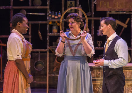 "L-R: June Carryl, Gina Torrecilla and Kurt Quinn in the Coeurage Theatre production of ""Failure: A Love Story"" at the Kirk Douglas Theatre. Written by Philip Dawkins and directed by Michael Matthews, ""Failure"" is part of Center Theatre Group's Block Party and will play April 14 - 23, 2017, at the Kirk Douglas Theatre. For tickets and information, please visit CenterTheatreGroup.org or call (213) 628-2772. Media Contact: CTGMedia@CTGLA.org / (213) 972-7376. Photo by Craig Schwartz."