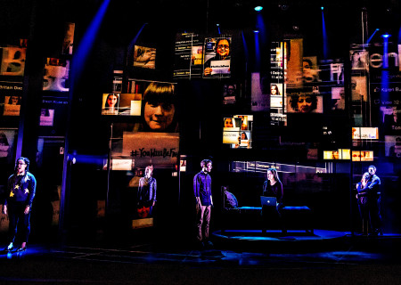 "The Company of the First North American Tour of ""Dear Evan Hansen."" With a book by Steven Levenson, music and lyrics by Benj Pasek and Justin Paul and direction by Michael Greif, ""Dear Evan Hansen"" runs October 17 through November 25, 2018 at Center Theatre Group/Ahmanson Theatre in Los Angeles, CA. For tickets and information, please visit CenterTheatreGroup.org or call (213) 972-4400. Media Contact: CTGMedia@CTGLA.org / (213) 972-7376. Photo by Matthew Murphy."
