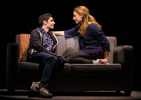 "Ben Levi Ross as 'Evan Hansen' and Jessica Phillips as 'Heidi Hansen' in the First North American Tour of ""Dear Evan Hansen."" With a book by Steven Levenson, music and lyrics by Benj Pasek and Justin Paul and direction by Michael Greif, ""Dear Evan Hansen"" runs October 17 through November 25, 2018 at Center Theatre Group/Ahmanson Theatre in Los Angeles, CA. For tickets and information, please visit CenterTheatreGroup.org or call (213) 972-4400. Media Contact: CTGMedia@CTGLA.org / (213) 972-7376. Photo by Matthew Murphy."