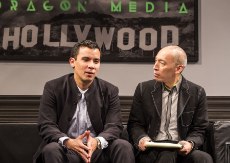 "L-R: Conrad Ricamora and Francis Jue in the world premiere of David Henry Hwang and Jeanine Tesori's ""Soft Power"" at Center Theatre Group/Ahmanson Theatre. Directed by Leigh Silverman and choreographed by Sam Pinkleton; Soft Power; runs through June 10; 2018. For tickets and information; please visit CenterTheatreGroup.org or call (213) 972-4400. Media Contact: CTGMedia@CTGLA.org / (213) 972-7376. Photo by Craig Schwartz."