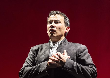 "Conrad Ricamora in the world premiere of David Henry Hwang and Jeanine Tesori's ""Soft Power"" at Center Theatre Group/Ahmanson Theatre. Directed by Leigh Silverman and choreographed by Sam Pinkleton, ""Soft Power"" runs through June 10, 2018. For tickets and information, please visit CenterTheatreGroup.org or call (213) 972-4400. Media Contact: CTGMedia@CTGLA.org / (213) 972-7376. Photo by Craig Schwartz."