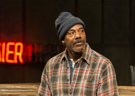 "John Earl Jelks in the Center Theatre Group production of ""Sweat"" at the Mark Taper Forum. Directed by Lisa Peterson and written by Lynn Nottage, ""Sweat"" will play through October 7, 2018. For tickets and information, please visit CenterTheatreGroup.org or call (213) 628-2772. Media Contact: CTGMedia@CTGLA.org / (213) 972-7376. Photo by Craig Schwartz."