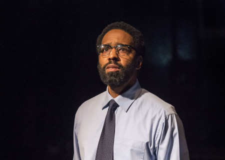 "Kevin T. Carroll in the Center Theatre Group production of ""Sweat"" at the Mark Taper Forum. Directed by Lisa Peterson and written by Lynn Nottage, ""Sweat"" will play through October 7, 2018. For tickets and information, please visit CenterTheatreGroup.org or call (213) 628-2772. Media Contact: CTGMedia@CTGLA.org / (213) 972-7376. Photo by Craig Schwartz."