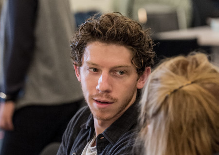 "Will Hochman at the first rehearsal for ""Sweat"" by Lynn Nottage. Directed by Lisa Peterson, ""Sweat"" runs August 29 through October 7, 2018, at the Center Theatre Group/Mark Taper Forum. For tickets and information, please visit CenterTheatreGroup.org or call (213) 628-2772. Media Contact: CTGMedia@CTGLA.org / (213) 972-7376. Photo by Craig Schwartz."