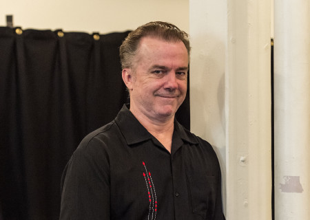 "Michael O'Keefe at the first rehearsal for ""Sweat"" by Lynn Nottage. Directed by Lisa Peterson, ""Sweat"" runs August 29 through October 7, 2018, at the Center Theatre Group/Mark Taper Forum. For tickets and information, please visit CenterTheatreGroup.org or call (213) 628-2772. Media Contact: CTGMedia@CTGLA.org / (213) 972-7376. Photo by Craig Schwartz."