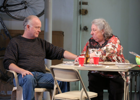 "Reed Birney and Jayne Houdyshell in the New York production of ""The Humans."" Birney and Houdyshell will reunite for the Los Angeles engagement of ""The Humans"" presented by Center Theatre Group at the Ahmanson Theatre June 19 through July 29, 2018. For tickets and information, please visit CenterTheatreGroup.org or call (213) 972-4400. Press Contact: CTGMedia@CTGLA.org / (213) 972-7376. Photo by Joan Marcus."
