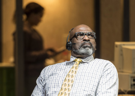 "Bernard K. Addison in the Center Theatre Group production of ""Water by the Spoonful"" at the Mark Taper Forum. Directed by Lileana Blain-Cruz and written by Quiara Alegría Hudes, ""Water by the Spoonful"" will play through March 11, 2018. For tickets and information, please visit CenterTheatreGroup.org or call (213) 628-2772. Media Contact: CTGMedia@CTGLA.org / (213) 972-7376. Photo by Craig Schwartz."