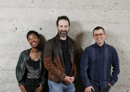 L-R: Playwrights Zakiyyah Alexander, Dan O'Brien and Sylvan Oswald, whose work will be presented as part of Center Theatre Group's inaugural L.A. Writers' Workshop Festival on June 23 at the Kirk Douglas Theatre. Media Contact: CTGMedia@CTGLA.org / (213) 972-7376. Photo by Ryan Miller/Capture Imaging.