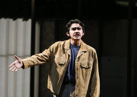 Second place winner Gerardo Navarro performs during the 2018 August Wilson Monologue Competition Los Angeles Regional Finals hosted by Center Theatre Group at the Mark Taper Forum on March 5. Media Contact: (213) 972-7376 / CTGMedia@ctgla.org. Photo by Ryan Miller/Capture Imaging.