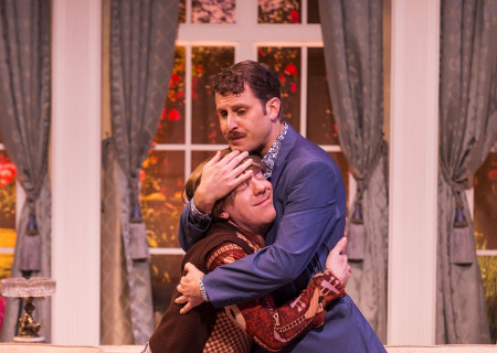 """L-R: Tom DeTrinis and Andrew Carter in the Celebration Theatre production of """"Die, Mommie, Die!"""" at the Kirk Douglas Theatre. Center Theatre Group is presenting """"Die, Mommie, Die!"""" through May 20 as part of Block Party 2018. For tickets and information, please visit CenterTheatreGroup.org or call (213) 628-2772. Media Contact: CTGMedia@CTGLA.org / (213) 972-7376. Photo by Craig Schwartz."""