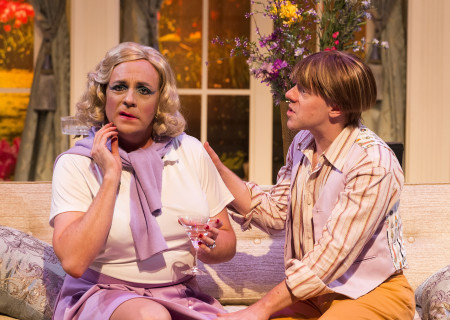 "L-R: Drew Droege and Tom DeTrinis in the Celebration Theatre production of ""Die, Mommie, Die!"" at the Kirk Douglas Theatre. Center Theatre Group is presenting ""Die, Mommie, Die!"" through May 20 as part of Block Party 2018. For tickets and information, please visit CenterTheatreGroup.org or call (213) 628-2772. Media Contact: CTGMedia@CTGLA.org / (213) 972-7376. Photo by Craig Schwartz."