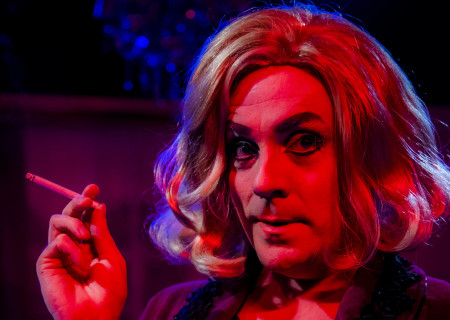 """Drew Droege in the original production of Celebration Theatre's """"Die, Mommie, Die!"""" Center Theatre Group's second annual Block Party will remount """"Die, Mommie, Die!"""" at the Kirk Douglas Theatre from May 10 through 20, 2018. For tickets and information, please visit CenterTheatreGroup.org or call (213) 628-2772. Media Contact: CTGMedia@CTGLA.org / (213) 972-7376. Photo by Matthew Brian Denman."""
