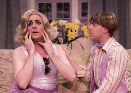"""L-R: Drew Droege and Tom DeTrinis in the original production of Celebration Theatre's """"Die, Mommie, Die!"""" Center Theatre Group's second annual Block Party will remount """"Die, Mommie, Die!"""" at the Kirk Douglas Theatre from May 10 through 20, 2018. For tickets and information, please visit CenterTheatreGroup.org or call (213) 628-2772. Media Contact: CTGMedia@CTGLA.org / (213) 972-7376. Photo by Matthew Brian Denman."""