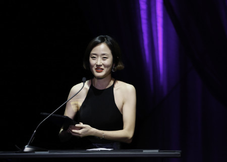 Hana S. Kim receives the 2018 Richard E. Sherwood Award during the 28th Annual LA Stage Alliance Ovation Awards held at The Theatre at Ace Hotel on January 29, 2018 in Los Angeles, California. Photo by Ryan Miller/Capture Imaging