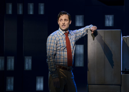 "Max von Essen, from the First National Tour of ""Falsettos,"" which will play at the Ahmanson Theatre April 16 through May 19, 2019. For tickets and information, please visit CenterTheatreGroup.org or call (213) 972-4400. Press Contact: CTGMedia@CTGLA.org / (213) 972-7376. Photo by Joan Marcus."