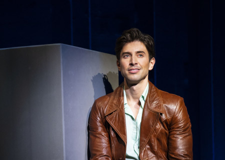 "Nick Adams, from the First National Tour of ""Falsettos,"" which will play at the Ahmanson Theatre April 16 through May 19, 2019. For tickets and information, please visit CenterTheatreGroup.org or call (213) 972-4400. Press Contact: CTGMedia@CTGLA.org / (213) 972-7376. Photo by Joan Marcus."