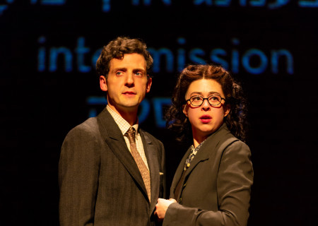 "L-R: Joby Earle and Adina Verson in ""Indecent"" at Huntington Theatre Company. A co-production with Center Theatre Group, ""Indecent"" runs June 5 through July 7, 2019 at the Ahmanson Theatre. For more information, please visit CenterTheatreGroup.org. Press Contact: CTGMedia@CTGLA.org / (213) 972-7376. Photo by T. Charles Erickson."