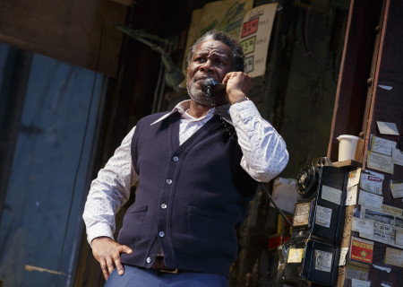 """John Douglas Thompson in the Manhattan Theatre Club production of August Wilson's """"Jitney."""" Directed by Ruben Santiago-Hudson, """"Jitney"""" will play at the Mark Taper Forum November 22 through December 29, 2019. For tickets and information, please visit CenterTheatreGroup.org or call (213) 628-2772. Media Contact: CTGMedia@CTGLA.org / (213) 972-7376. Photo by Joan Marcus."""