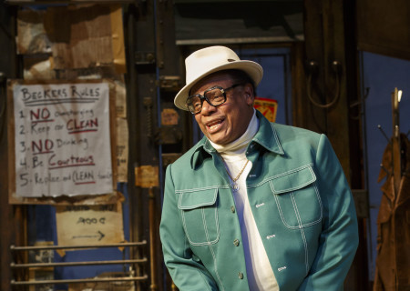 """Harvy Blanks in the Manhattan Theatre Club production of August Wilson's """"Jitney."""" Directed by Ruben Santiago-Hudson, """"Jitney"""" will play at the Mark Taper Forum November 22 through December 29, 2019. For tickets and information, please visit CenterTheatreGroup.org or call (213) 628-2772. Media Contact: CTGMedia@CTGLA.org / (213) 972-7376. Photo by Joan Marcus."""