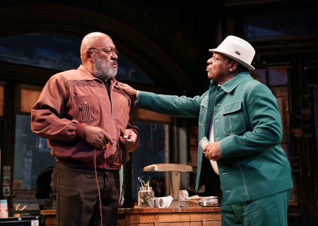 "L-R: Keith Randolph Smith and Harvy Blanks in August Wilson's ""Jitney"" directed by Ruben Santiago-Hudson. ""Jitney"" will play at the Mark Taper Forum November 22 through December 29, 2019. For tickets and information, please visit CenterTheatreGroup.org or call (213) 628-2772. Media Contact: CTGMedia@CTGLA.org / (213) 972-7376. Photo by Joan Marcus."