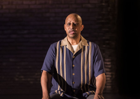 "Ruben Santiago-Hudson in the Center Theatre Group production of ""Lackawanna Blues."" Written and directed by Santiago-Hudson, ""Lackawanna Blues"" will play at the Mark Taper Forum through April 21, 2019. For tickets and information, please visit CenterTheatreGroup.org or call (213) 628-2772. Press Contact: CTGMedia@CTGLA.org / (213) 972-7376. Photo by Craig Schwartz."