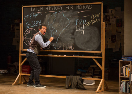 "John Leguizamo in ""Latin History for Morons."" Written and performed by Leguizamo and directed by Tony Taccone, ""Latin History for Morons"" is part of Center Theatre Group's 2019-2020 season at the Ahmanson Theatre and will be presented September 5 through October 20, 2019. For more information, please visit CenterTheatreGroup.org. Press Contact: CTGMedia@CTGLA.org / (213) 972-7376. Photo by Matthew Murphy."