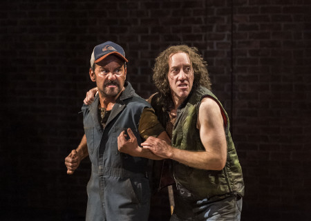 "L-R: Max Casella and Joey Slotnick in the world premiere of ""A Play Is a Poem."" Written by Ethan Coen and directed by Neil Pepe, ""A Play Is a Poem"" runs through October 13, 2019, at Center Theatre Group/Mark Taper Forum. For tickets and information, please visit CenterTheatreGroup.org or call (213) 628-2772. Media Contact: CTGMedia@CTGLA.org / (213) 972-7376. Photo by Craig Schwartz."